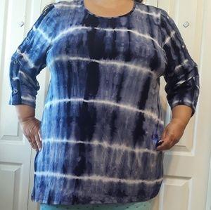 NWOT B.L.E.U. size 2X tye dyed top